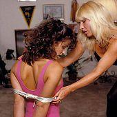 Suspension bondage.